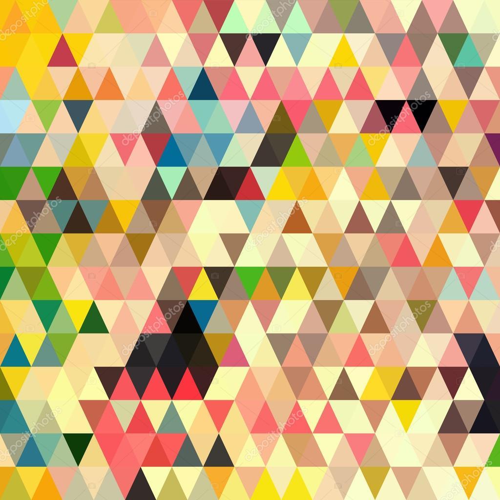 Abstract Geometric Triangle Seamless Pattern Stock