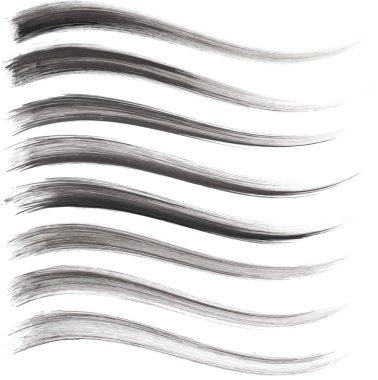 Vector set of grunge brush strokes.