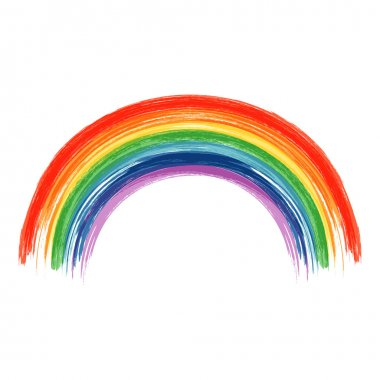 Art rainbow colors brush stroke paint background