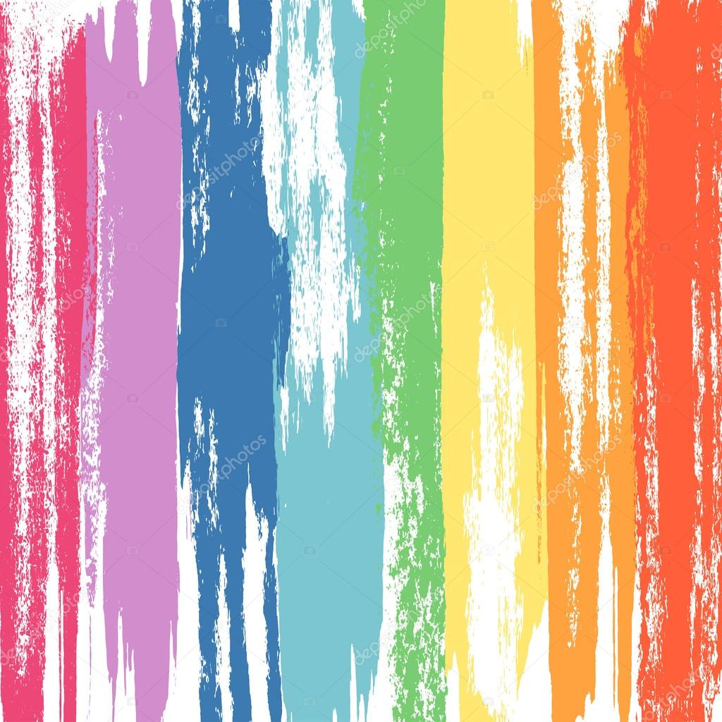 Paint Brush With Rainbow Colors