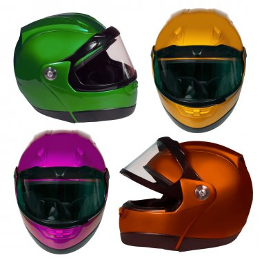 Motorcycle Helmet isolated on white with clipping path stock vector