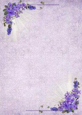 Lilac border bouquet