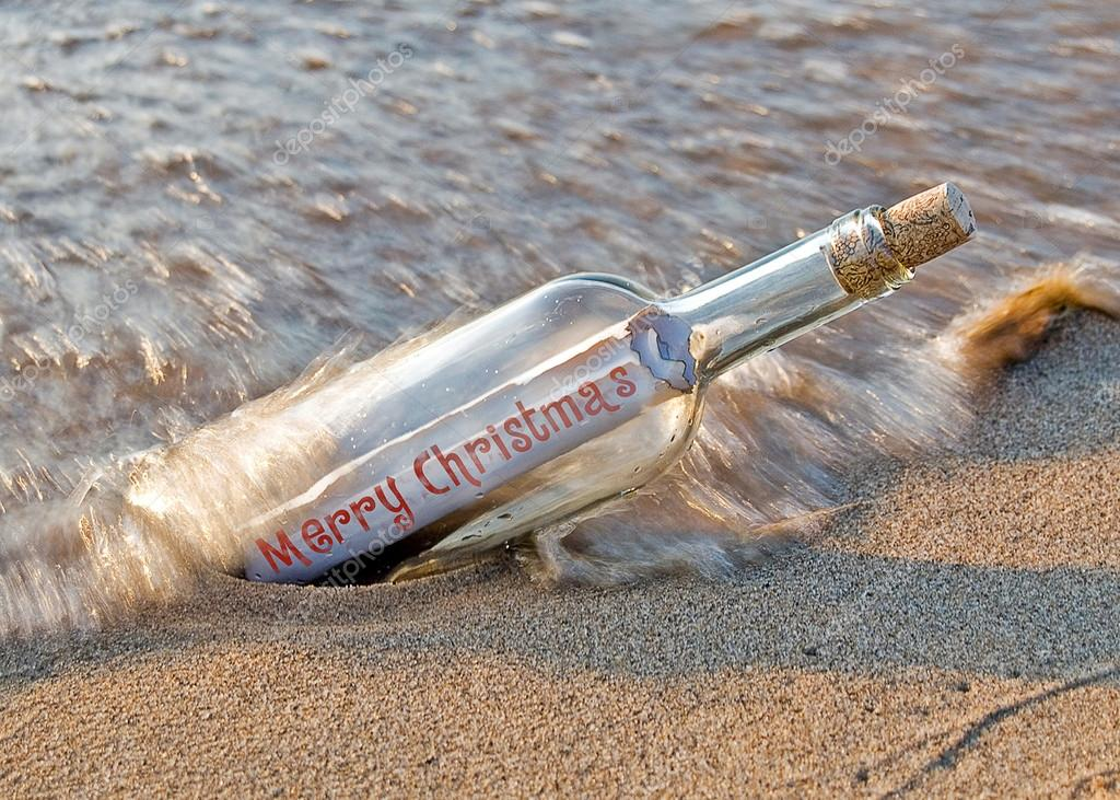 Christmas message in a bottle