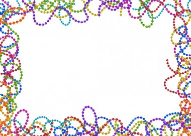Colorful Party Bead Border