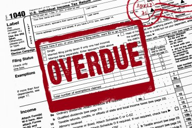 overdue stamp on income tax form