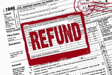 refund stamp on income tax form