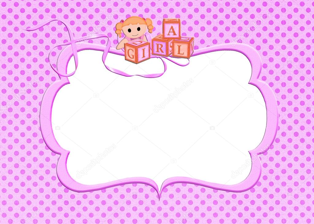 marco Rosa lunares bebé niña — Fotos de Stock © jentara #28248013
