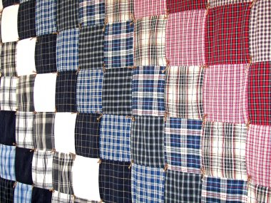 Plaid patchwork quilt