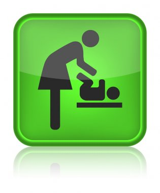Icon toilet, symbol for women and baby, baby changing