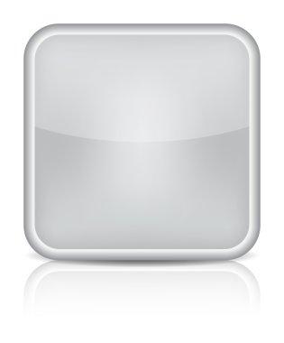 Gray glossy blank internet button.
