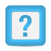 Fényképek Kérdés kék gomb ikon
