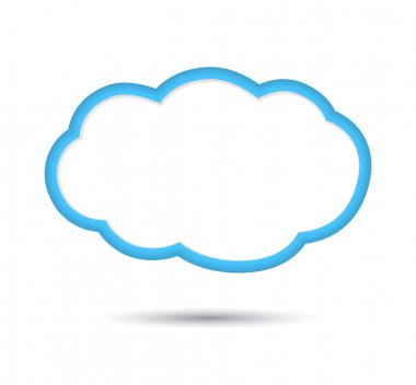 Cloud, isolated on white background.
