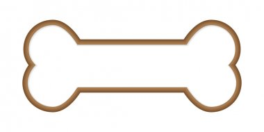 Dog Bone. Vector Illustration clip art vector