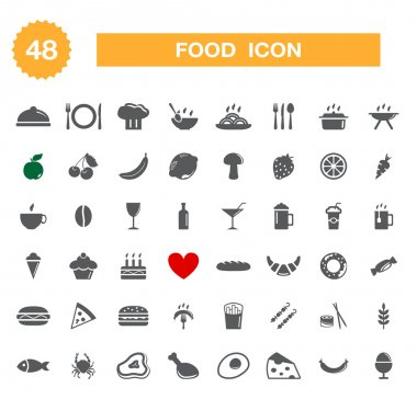 Food icon - set.