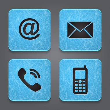 Contact buttons - set icons - email, envelope, phone, mobile.