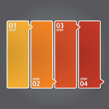Modern Design template. Can be used for infographics. Numbered banners