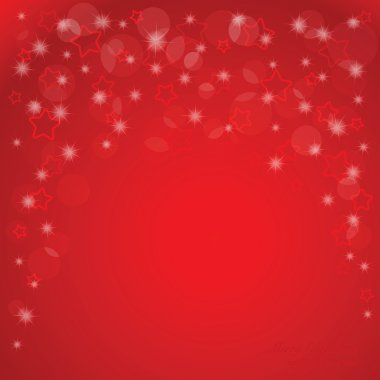 Elegant Christmas background with stars and place for text.