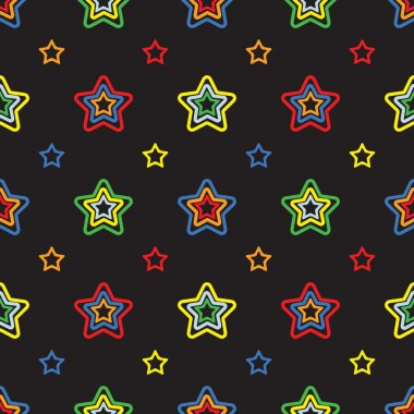 Seamless colorful pattern with stars.