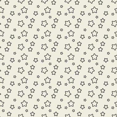 Seamless pattern with black stars.