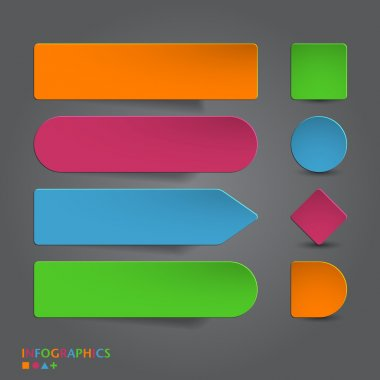Abstract infographics banner, label, tag designs template.