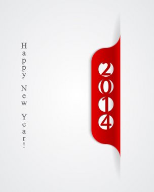 Banner 2014, happy new year design.