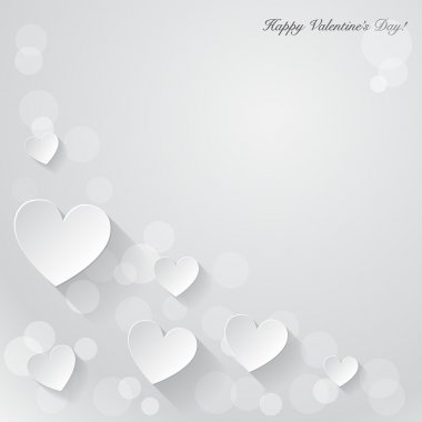 Valentine's day background with paper hearts.
