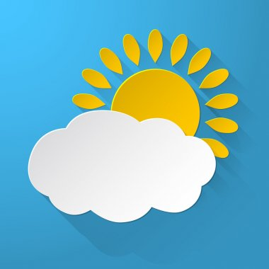 Sun with Clouds background