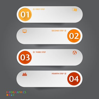 Number Banners Template. Graphic or website layout