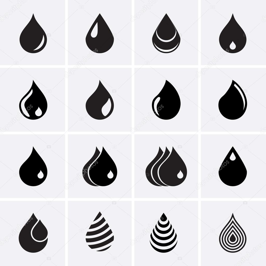 Drop Icons. Vector