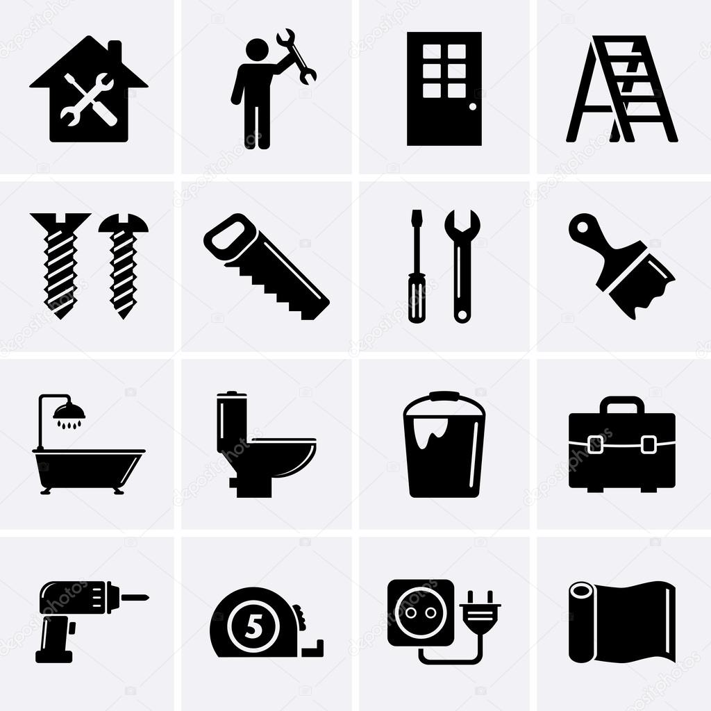 Home repair and tools icons