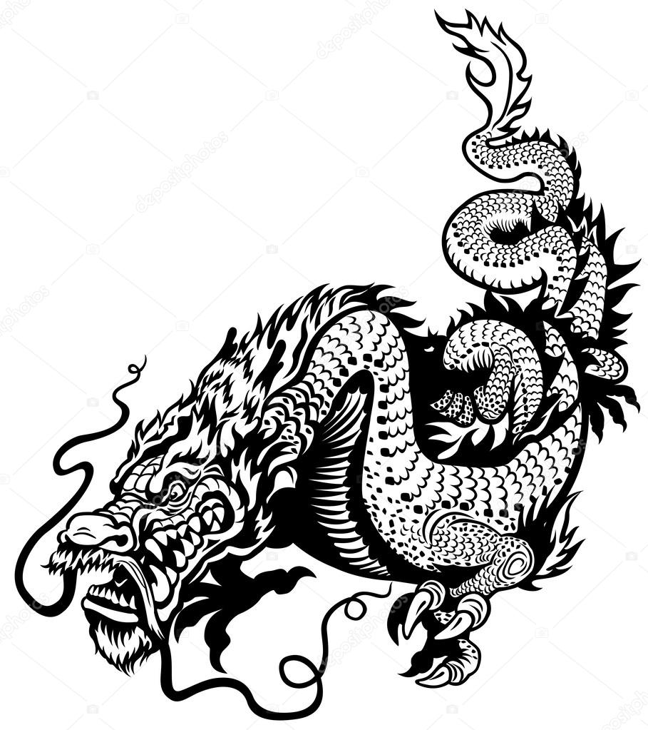 chinese dragon vector stock vectors royalty free chinese dragon rh depositphotos com chinese dragon victory dance hypixel bedwars chinese dragon vector png