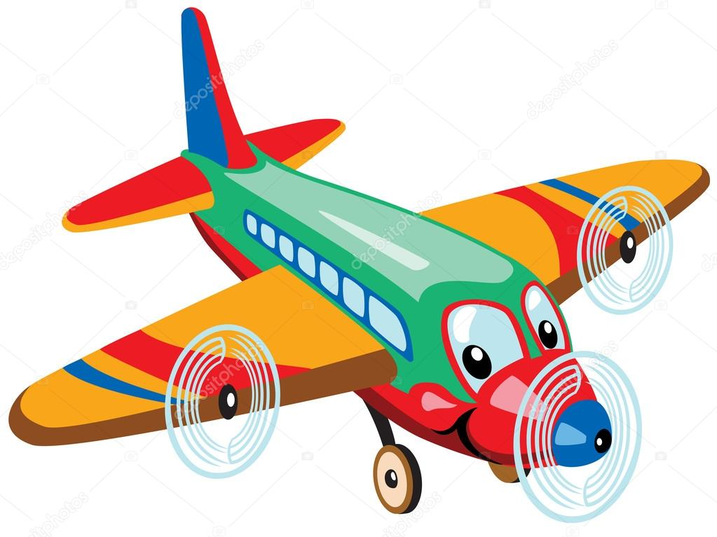 Picture Cartoon Airplane Cartoon Airplane Stock Vector