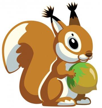 Cartoon squirrel