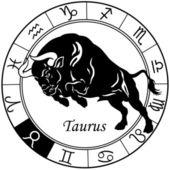 taurus tierkreis zeichen schwarz weiß