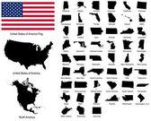 Vektory států usa