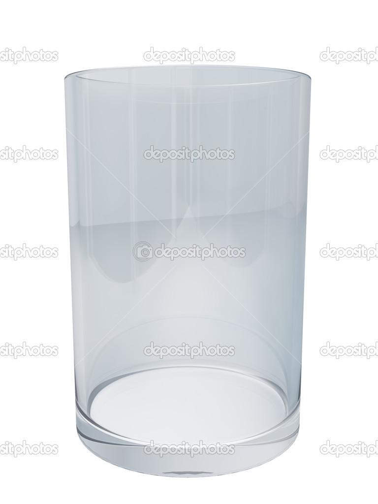 Nettoyer Du Verre nettoyer le verre vide isolé sur fond blanc — photographie lenapix