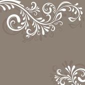 béžové vektorové pozadí s florálním ornamentem