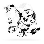 Vintage květinový design prvek izolovaných na bílém pozadí