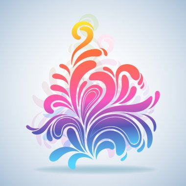 Abstract colorful splash design element vector illustration. clip art vector