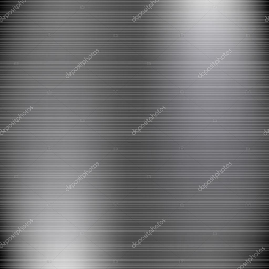 Dark grey brushed metal industrial vector background.