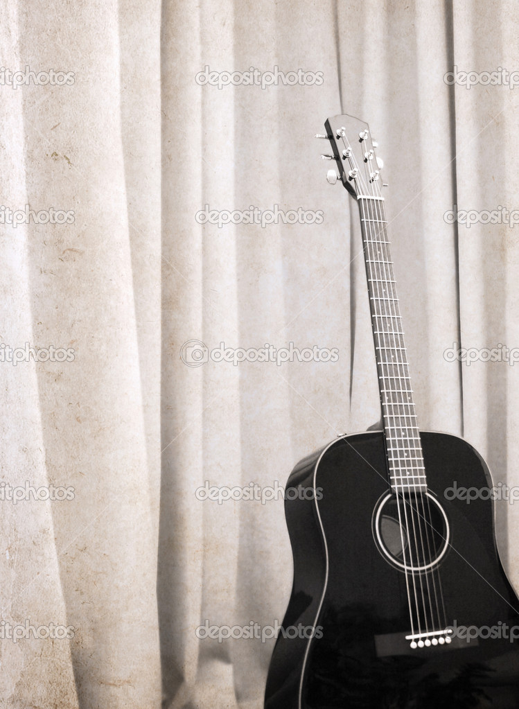 Kresby Ve Stylu Grunge Kytara Stock Fotografie C Alesse 37447473