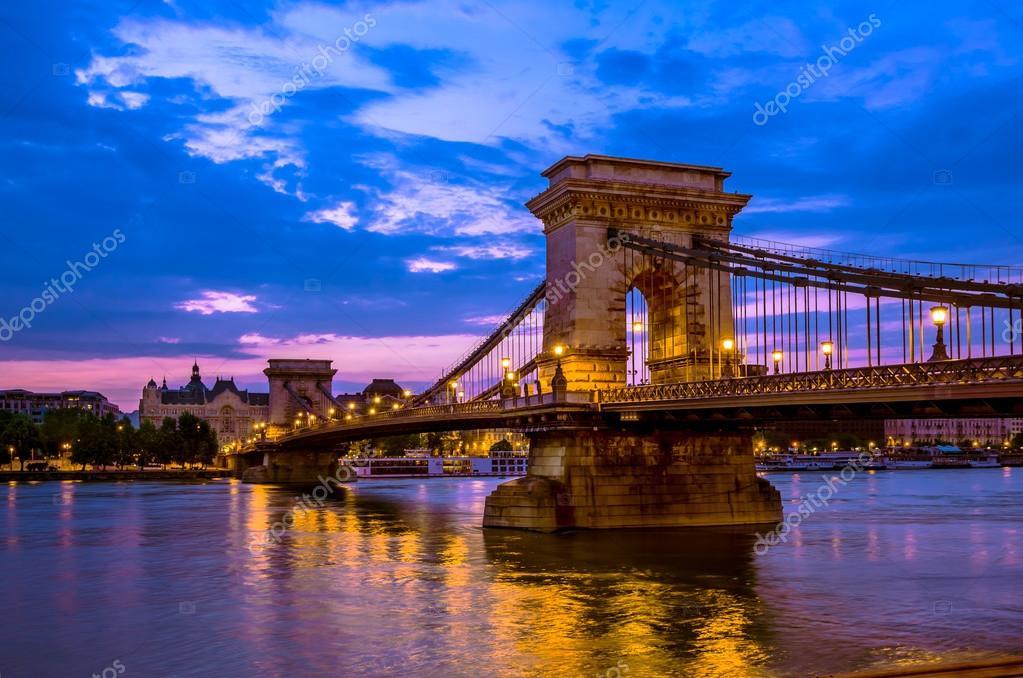 Szechenyi, Chain Bridge over the Danube river