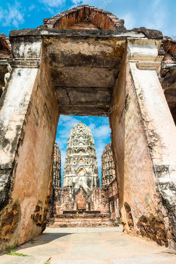 Wat Sri Sawat temple in Sukhothai, Thailand