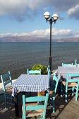 bellissimo ristorante vicino al mare a Creta, Grecia
