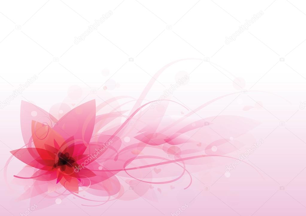 Beautiful pink flower abstract background. vector