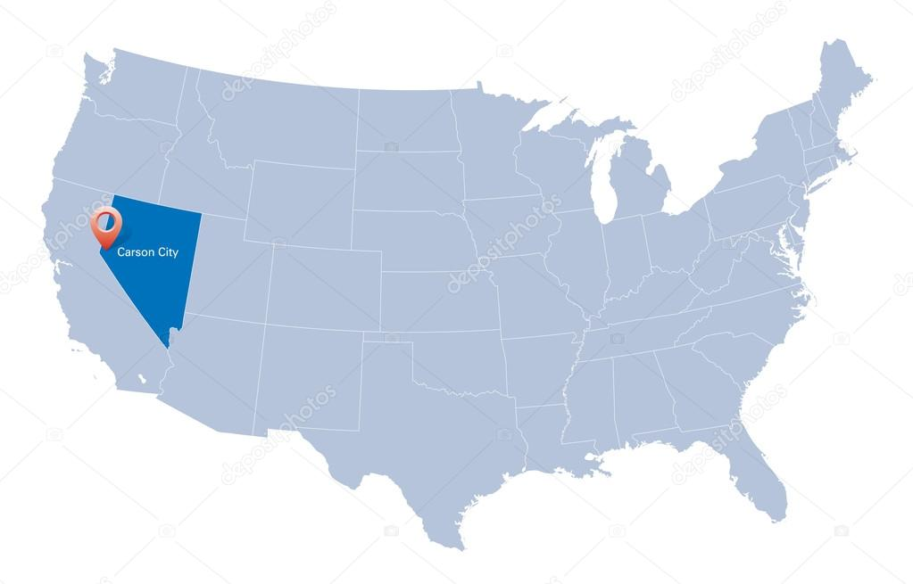 Carson City Nv Map on