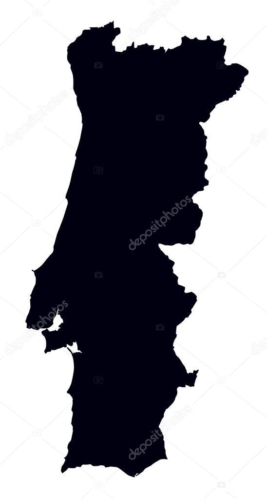 mapa de portugal a preto e branco mapa preto e branco de portugal — Vetor de Stock © chrupka #37683279 mapa de portugal a preto e branco