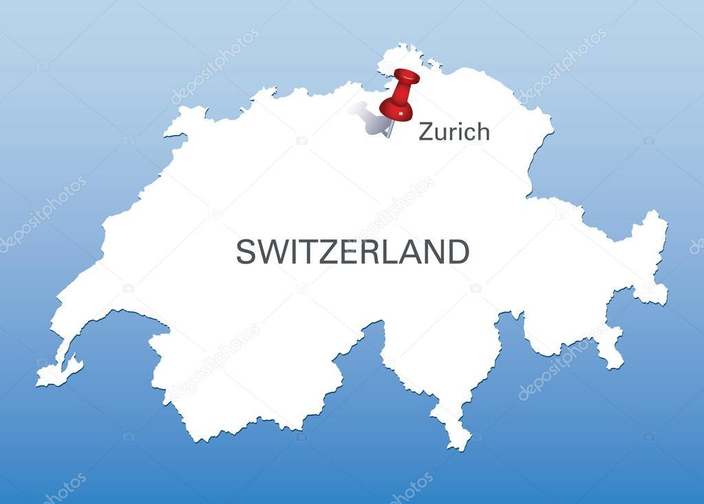 Switzerland map with the indication of Zurich — Stock Vector ... on zurich switzerland street map, bern switzerland on world map, zurich located europe map, zurich world map on the show, switzerland highlighted on map, zurich where's, belgrade europe map, zurich switzerland airport map, montreux switzerland on world map, zurich transit map, geneva switzerland on world map, map of switzerland on world map, zurich train station map, zurich time zone, zurich top attractions map, zurich switzerland on map of city of, zurich transport map, zurich on a map, basel switzerland on world map, switzerland language map,