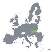 Fotografie Map of European Union with the indication of Slovakia