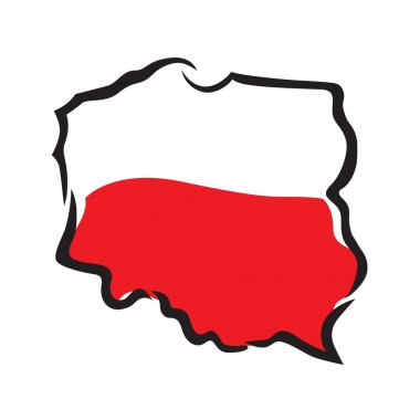 Abstract map and flag of Poland